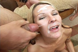 Group Facials Cover Her Face