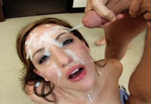 Cum On Her Face Bukkake