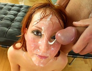 Redhead Teen Slut Covered in Cum