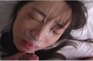 Young asian facial cumshot