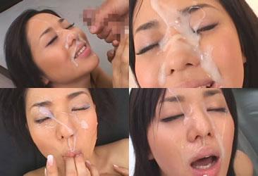 Sora Aoi facial cumshots