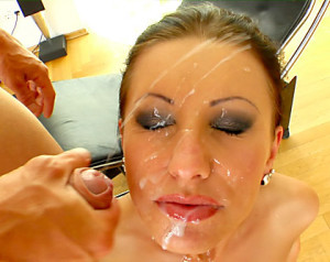 Big Facial Cumshots All Over Nikki R.