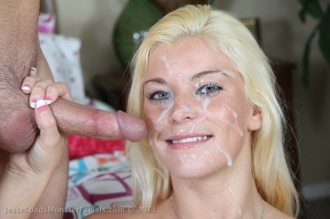Monster Facial on Blonde Girl Shay Golden